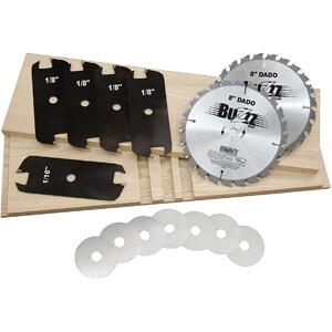 MIBRO 416381 8 Carbide Stacking Dado Blade Set