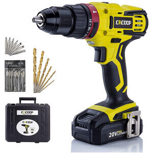 CACOOP 20V Hammer DrillDriver Set