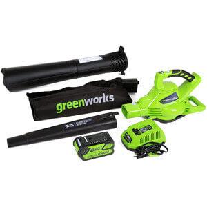 Greenworks 24322 G-Max Cordless Blower Vac
